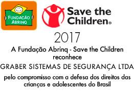 A Fundação Abrinq - Save the Children reconhece a Graber Sistemas de Segurança LTDA pelo compromisso com a defesa dos direitos das crianças e adolescentes do Brasil